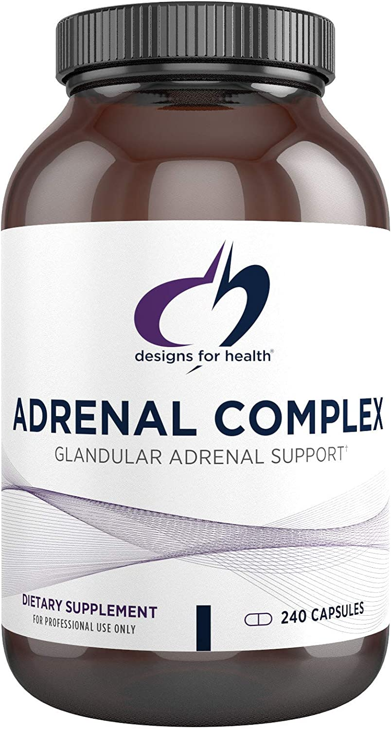Designs for Health - Adrenal Complex, 240 Vegetarian Capsules: Health & Personal Care