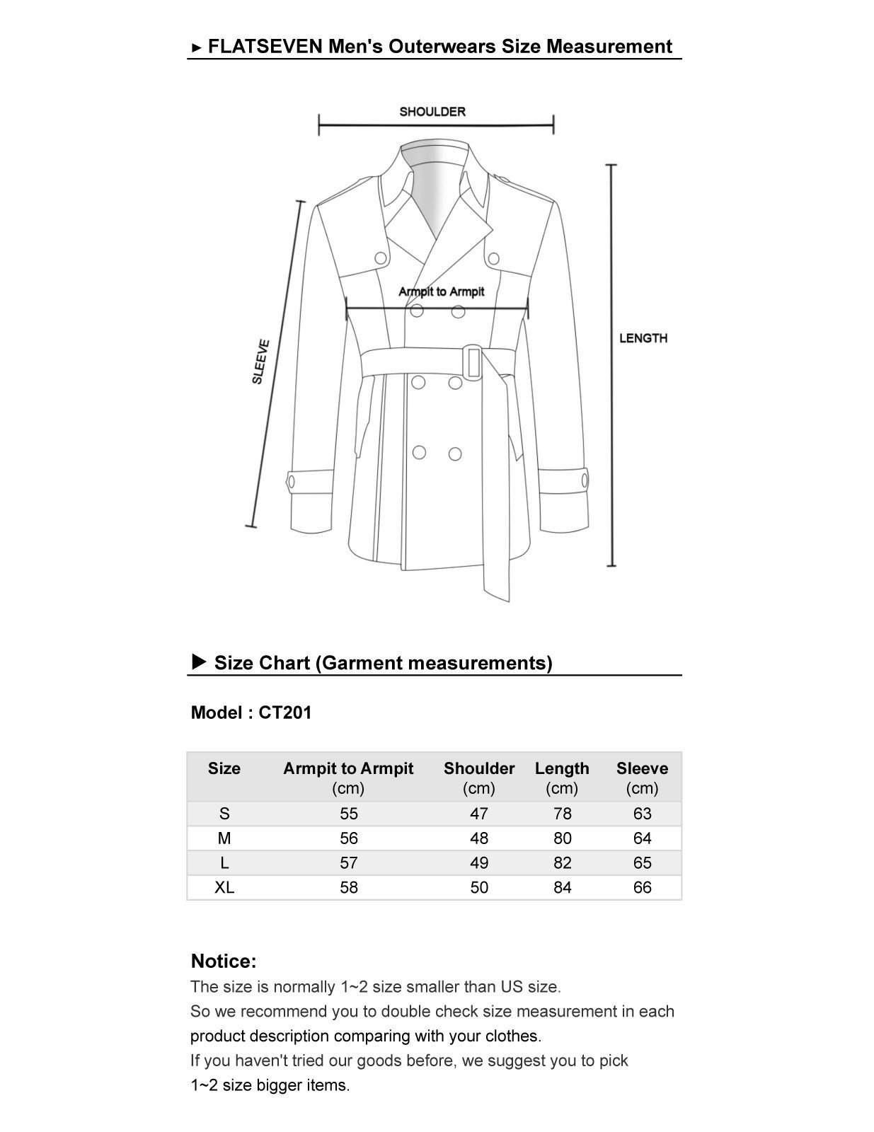 FLATSEVEN Mens Slim Fit Designer Casual Trench Coat (FCT201) Dark Beige, Size XL by FLATSEVEN (Image #5)