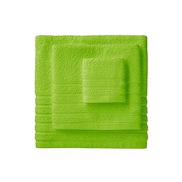 Barceló Hogar 05040010008 Juego de 3 toallas para bidé, lavabo y ducha, modelo Diamante, rizo americano, pistacho: Amazon.es: Hogar