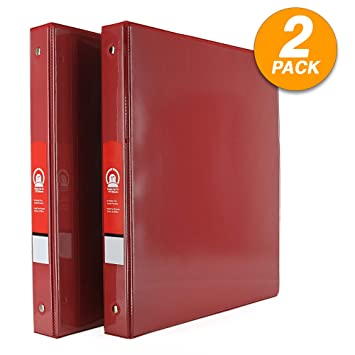 Amazon.com: Emraw - Carpeta con 3 anillas, 1 pulgada, con 2 ...