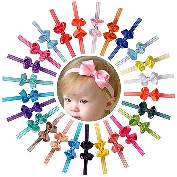 bd0a0dee8 Amazon.com  Ncmama Baby Girls Headbands Grosgrain Ribbon Boutique ...