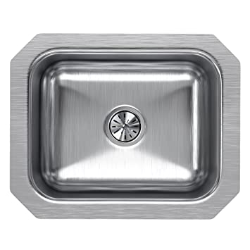 Elkay Lustertone Eluh129 Single Bowl Undermount Stainless Steel Bar