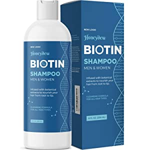 Biotin Shampoo for Hair Growth B-Complex Formula for Hair Loss Removes DHT for Thicker Fuller Hair Anti Dandruff Formula with Zinc Tea Tree Oil Extract Jojoba Oil Argan Oil For Women and Men 8 oz