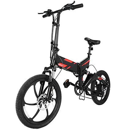 Amazon Com Zaplue 20 Inch Folding Electric Bike With Removable