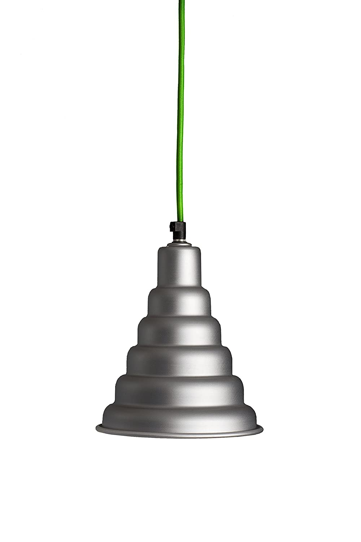 Alluminia – Océan oltreluce Lampe à suspension tournage Suspension, E27, aluminium satiné vert