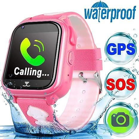 Reloj Inteligente Pantalla táctil smartwatch Impermeable Reloj Deportivo Pulsera niños y niñas GPS rastreador llamadas de