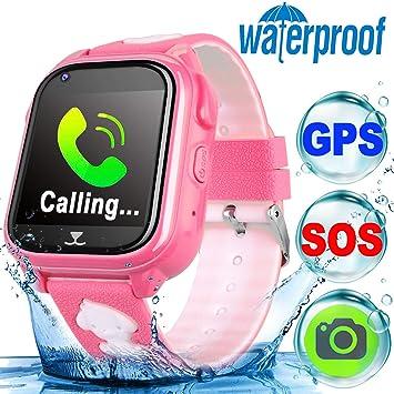 Reloj Inteligente TURNMEON para niños y niñas Impermeable GPS ...