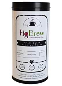 FigBrew Mellow Mix Roasted Fig and Coffee Blend Beverage - 30 Cup Tin - 100% Organic - Vegan