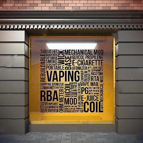 Amazon com: Vape Wall Window Decal Sticker Vape Shop Vaping Vape