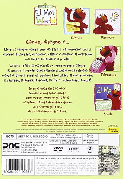 Amazon.com: Il Mondo Di Elmo #04 - Canto, Disegno E... [Italian Edition]: animazione: Movies & TV
