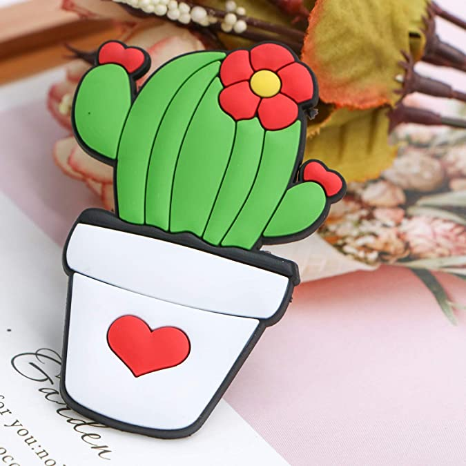Amazon.com: AQUEENLY Croc Charms para zapatos, bonito cactus ...