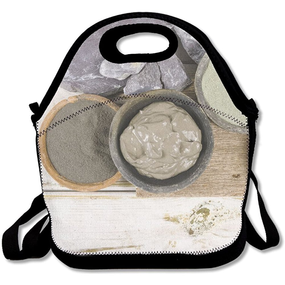 Staropor Ancient Minerals Green And Blue Clay Powder And Mud Mask For Spa Beauty Concept Unique Lunch Tote Lunch Bag Outdoor Picnic Reusable