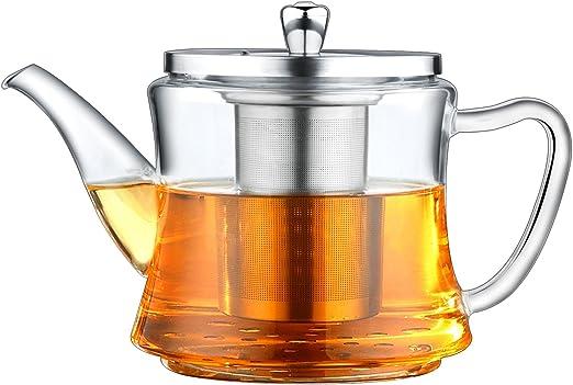 Tetera de vidrio de varios usos, aplicable para hacer té, hervir ...