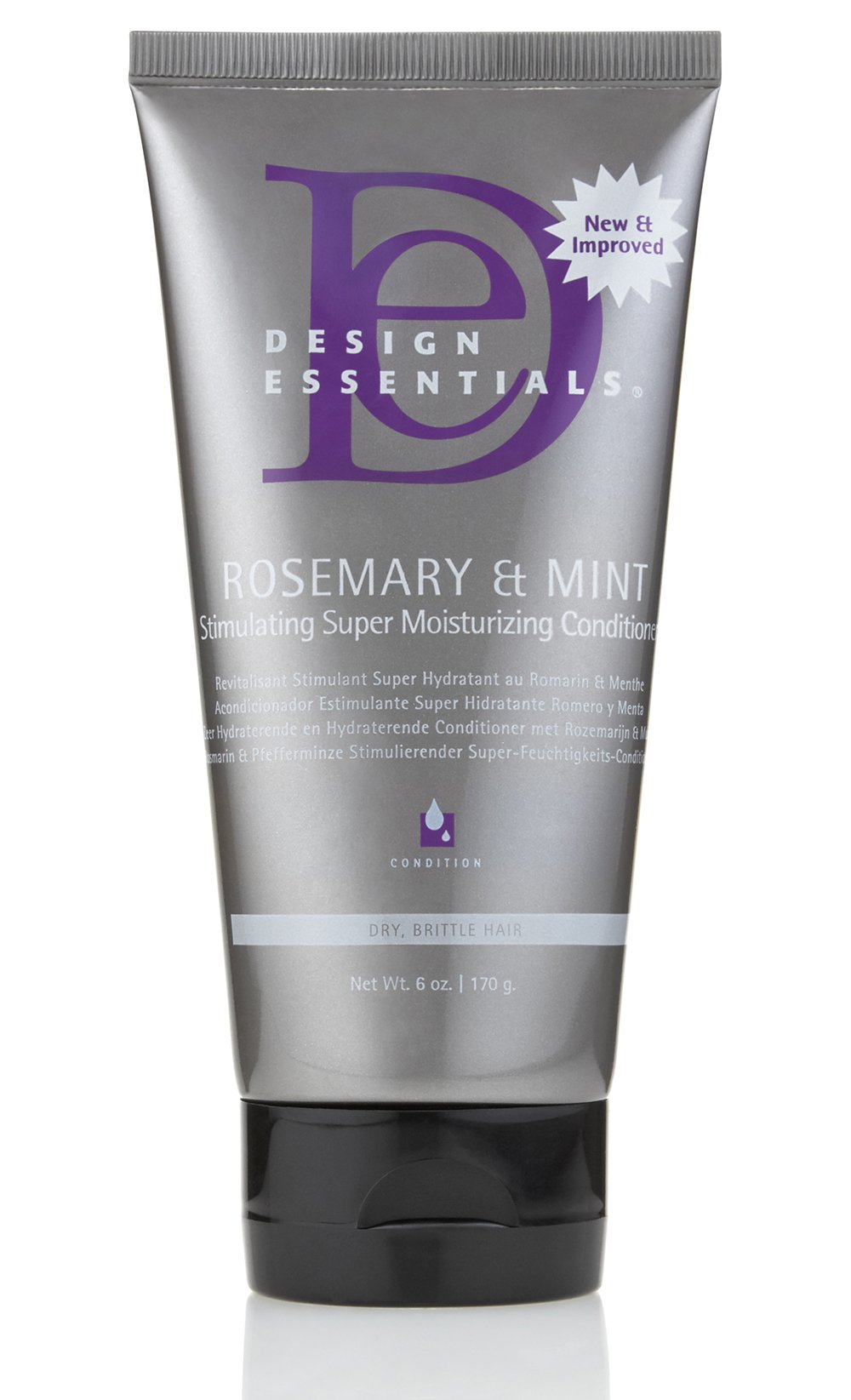 Design Essentials Rosemary & Mint Super Moisturizing Ultra Stimulating Conditioner Best for Medium to Coarse Textures-Insane Moisture for Dry Hair - 6oz.