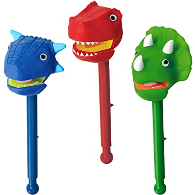 Educational Insights Dinosaurs Puppet-on-a-Stick, Box of 3: Toys & Games