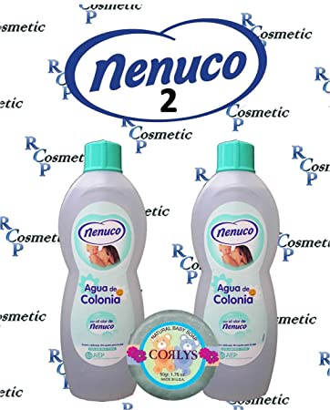 Nenuco Baby Cologne Agua De Colonia 20oz./600ml 2 BOTTLES + Soap Free
