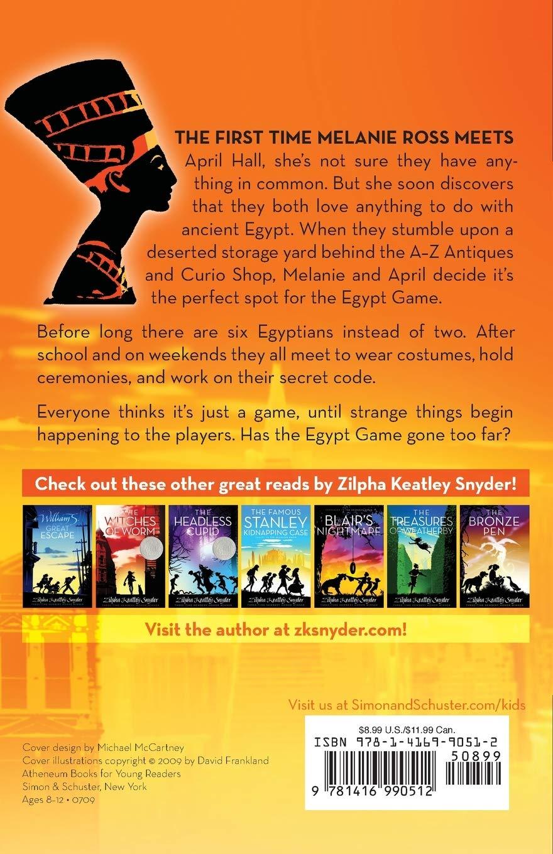 The Egypt Game Snyder Zilpha Keatley Raible Alton 9781416990512 Amazon Com Books