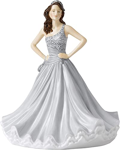 Royal Doulton HNFISC26545 Traditional Christine Figurine, 8.7 , Grey