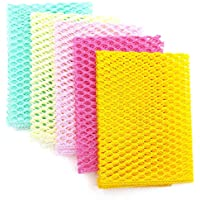 OliviaTree 5PCS Innovative Dish Washing Net Cloths,Scourer,100% Odor Free,Quick Dry,Perfect Scrubber for Washing Dishes…