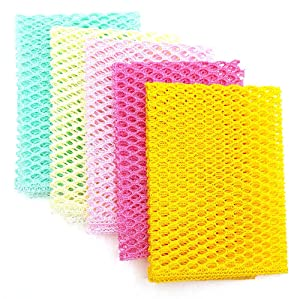 """OliviaTree 5PCS Innovative Dish Washing Net Cloths,Scourer,100% Odor Free,Quick Dry,No More Sponges with Mildew Smell,Perfect Scrubber for Washing Dishes 11"""" by 11"""""""