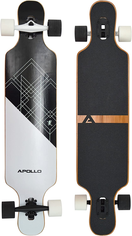 avec roulements /à Billes ABEC High Speed Drop-Through Freeride Skaten Cruiser Boards Apollo Longboard /édition sp/éciale Board Complet y Inclus Outil en Forme de T