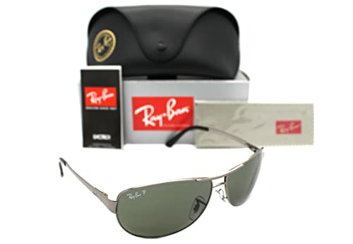 a9681c66ef New Authentic Ray-ban Rb 3342 004/58 60mm Gunmetal & Polarized Natural  Green: Amazon.ca: Shoes & Handbags