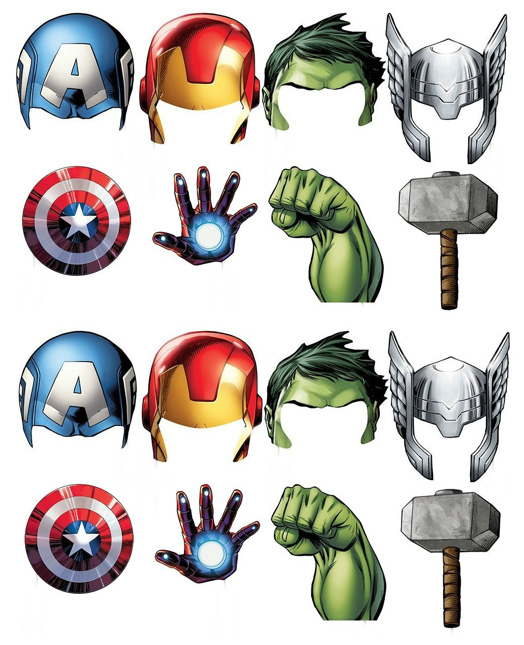 Marvel Avengers Photo Booth Props, 16ct Unique SG_B01MRQL4DG_US