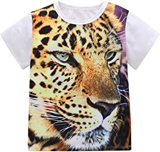 squarex Baby Tops, Boys Girls Tiger Animal 3D Print T-Shirt Tops Outfits Casual Clothes