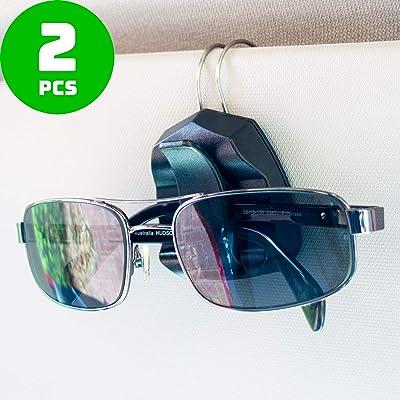 Sunglass Clip for Car Visor - Premium Eyeglass Holder - Set of 2: Automotive