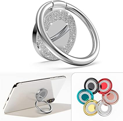 Allengel 360/° Rotation Diamond Metal Finger Ring Grip for iPhone iPod iPad Samsung Galaxy and Other Smartphones Cell Phone Ring Holder