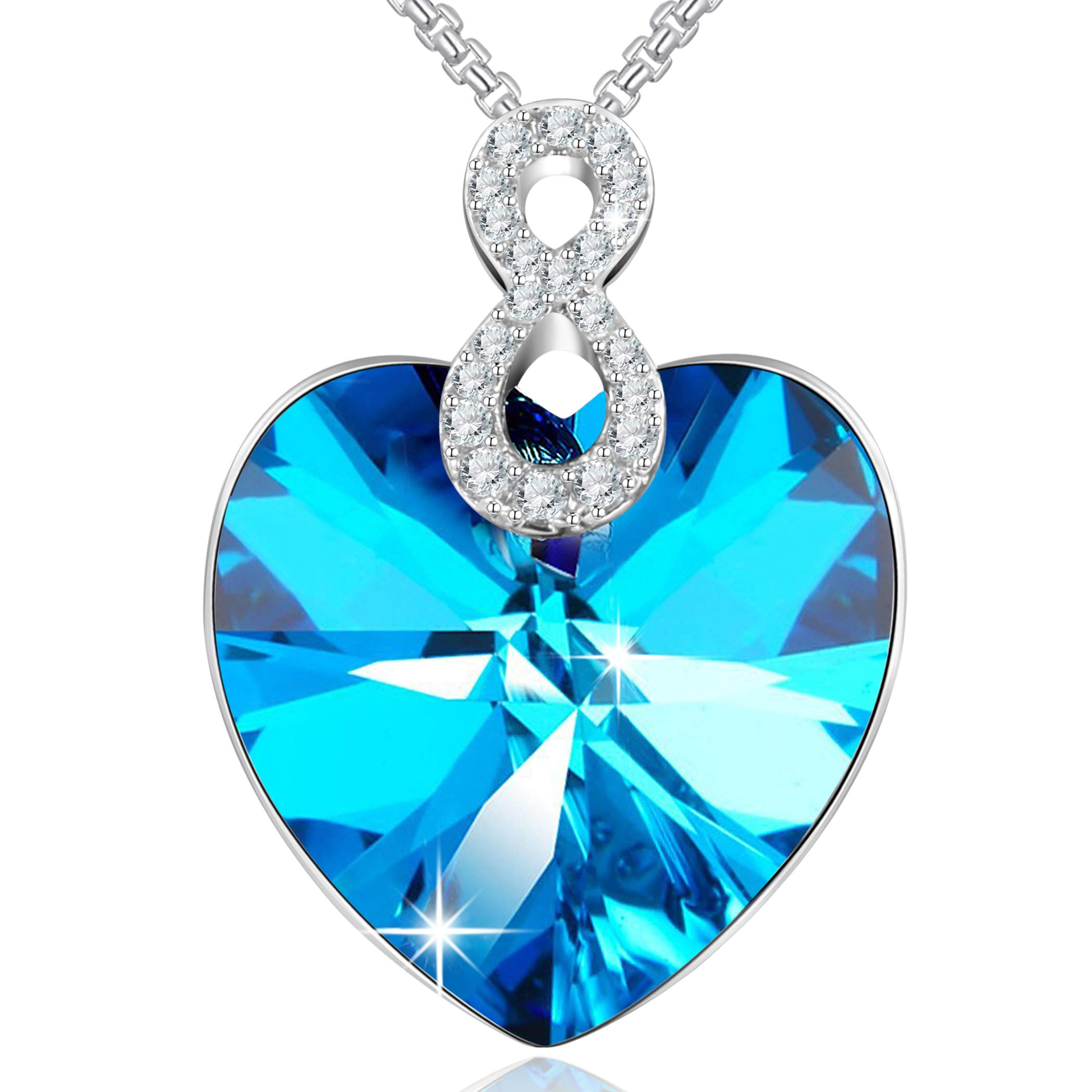 Angelady Collier femme Bijoux composés de cristaux SWAROVSKI Pendentif Idéal (9)