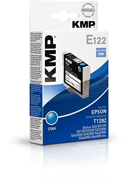 KMP E122 3.5ml Cian 270páginas cartucho de tinta - Cartucho de tinta para impresoras (Cian, Epson Stylus S22 Epson Stylus SX125, SX130, SX230, SX235W, ...
