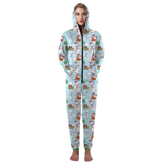 Navidad ropa nueva COS pantalones siameses 3D muñeco de nieve de impresión otoño y el invierno
