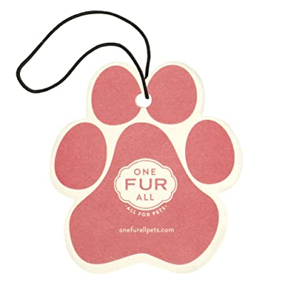 One Fur All Pet House Car Air Freshener, Pack of 4–Vanilla Creme Brulee- Non-Toxic Air Freshener, Pet Odor Eliminating Air Freshener for Car, Ideal for Small Spaces, Dye Free Dog Car Air Freshener: Home & Kitchen