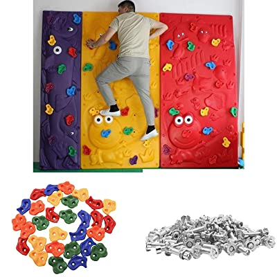 30 Pack Rock Climbing Holds for Kids with Climbing Grips for DIY Rock Stone Wall