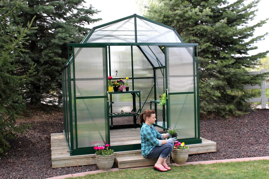 Grandio Elite 8x8 Greenhouse Kit - 10mm Twin-Wall Polycarbonate