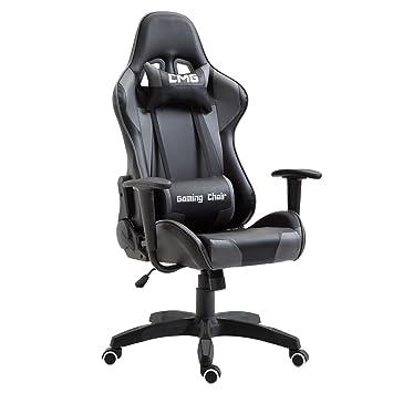 Bürostuhl Wippmechanik caro möbel gaming drehstuhl in schwarz grau bürostuhl racer