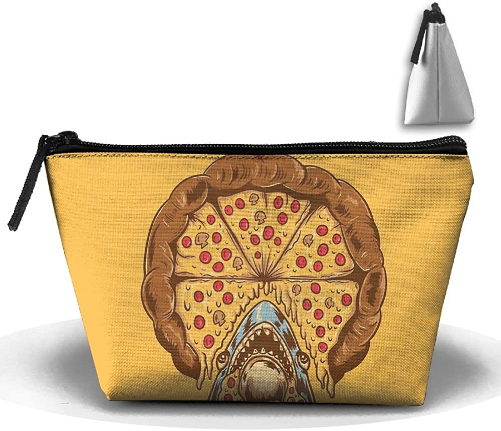 Shark Pizza Multifunction Portable Pouch Trapezoidal Storage Travel Bag