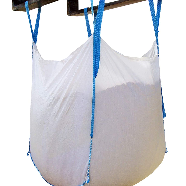 "Jumbulk & Secbolt FIBC Bulk Bag, U Panel One 1 Ton Bag, Sand Bag, 35""L x 35""W x 35""H, 180 Gallons, 2200lbs SWL, Open Top Flat Bottom, Woven Polypropylene Bags, Pack of (1)"