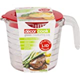 Décor Cook Measuring Jug with Lid, 500mL, Clear