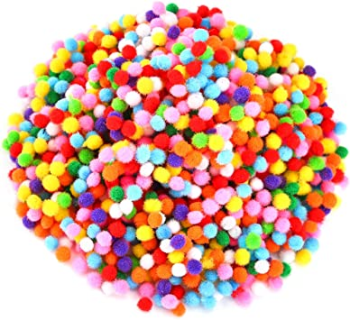 Crafting Pom Poms 7 mm various colors!
