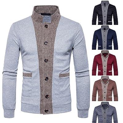 Forhtery Mens Slim Fit Zip Front Sweatshirt Outwear