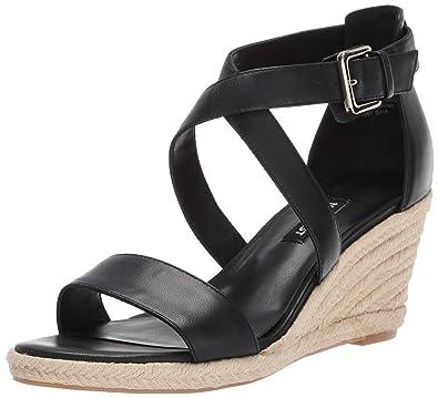 40541a07621 Nine West Women's Jorgapeach Leather Wedge Sandal