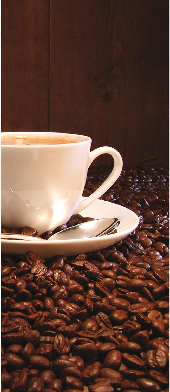 Kaffeetasse Kaffeebohnen no T/ür Fototapete T/ürtapete 91x211 cm T/ürfolie selbstklebend o T/ür T/ürposter T/ürpanel Foto Tapete Bild Material:91x211cm Folie Vlies PREMIUM PLUS selbstkl. 866