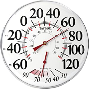 """Taylor 497 12"""" Outdoor Thermometer Temperature/Humidity Gauge"""