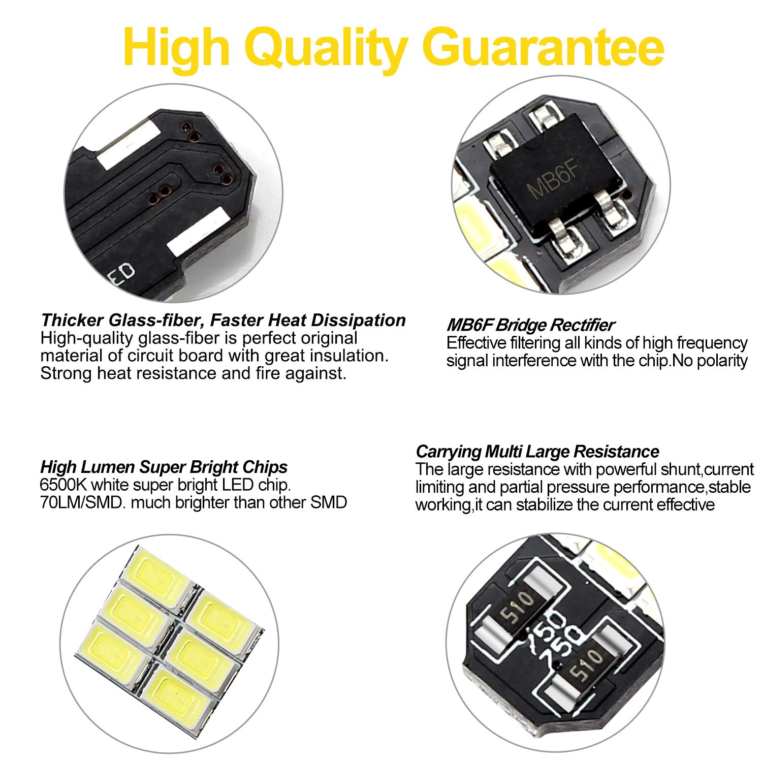 Nakobo 31mm Festoon Led Bulbs 6000k White Light 6 Smd The Threephase Bridge Rectifier Pop Ntype Filter Circuit Is Shown As 5730 Chipsets Canbus Error Free For 3175 De3175 De3021 3022 3021 Dome License Plate Door Lights Pack Of 4 Automotive