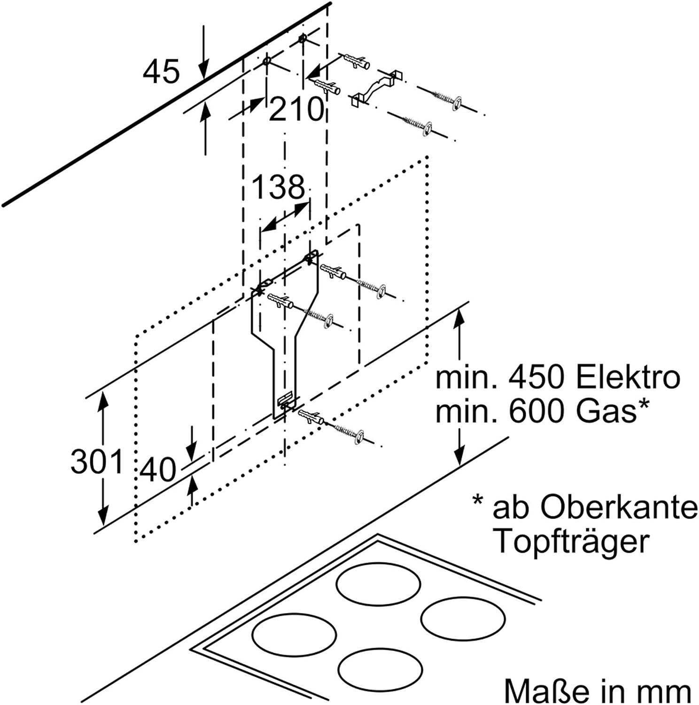Bosch Serie 4 DWK87CM60 - Campana (680 m³/h, Canalizado ...