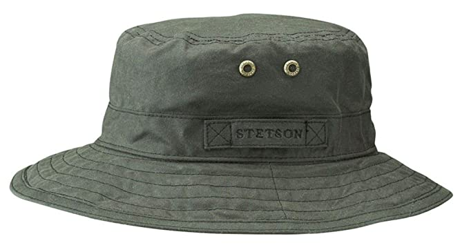 f3c454df Stetson Atkins Waterproof Waxed Cotton Hat: Amazon.co.uk: Clothing