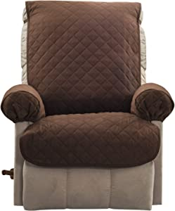 Zenna Home Reversible Furniture Cover Petcover, Recliner, Beige/Brown