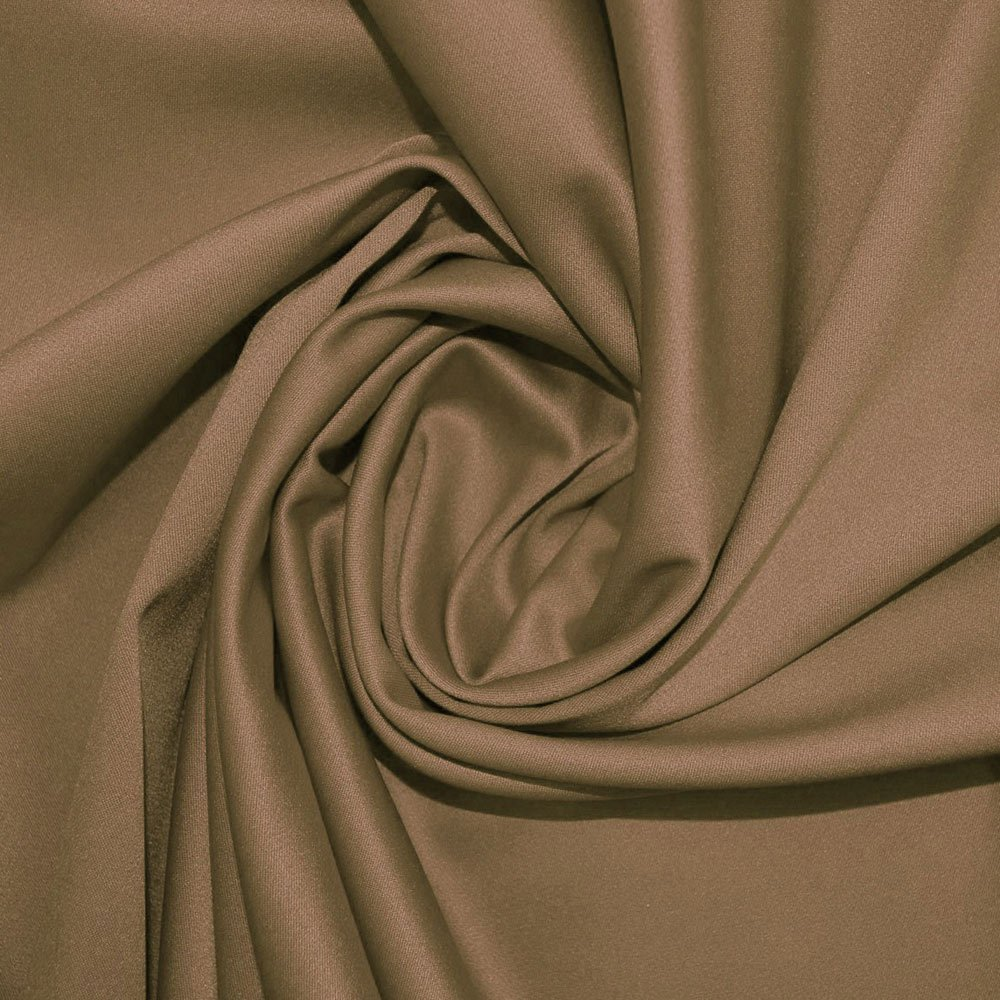 Taupe Stretch Duchess Satin Fabric (SW) SKU03930